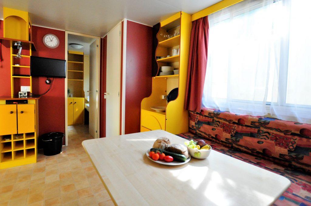 Huiskamer Stacaravan van CasaToscane